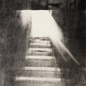 Stairs monotype by Philine van der Vegte