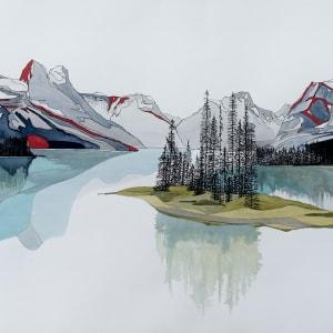 Maligne Lake by Linnea Martina  Hannigan