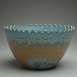 Wave Serving Bowl