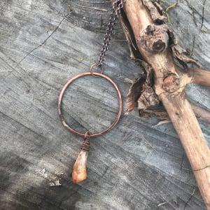 Citrine Mandala Necklace