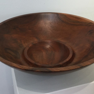 Walnut Double Bowl