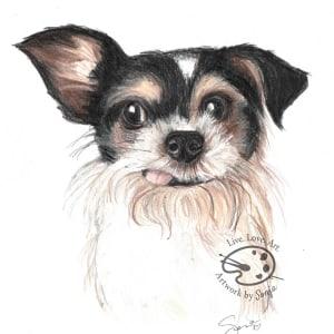 Dog Memorial Portrait