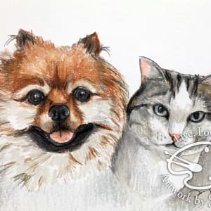Dog and Cat Portrait by Sonja Petersen