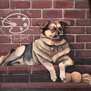 German Shepherd Painting by Sonja Petersen