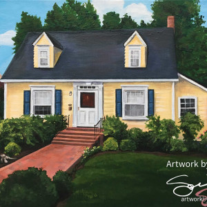 Historic Downtown Fredericksburg House Portrait