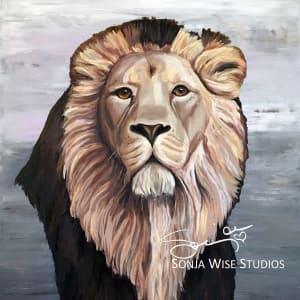Ryan's Lion Print by Sonja Petersen