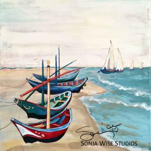 Van Gogh's Boats by Sonja Petersen