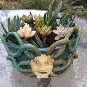 Four Ways Medusa succulent pot by Nell Eakin