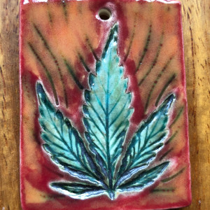 420 flame pendant by Nell Eakin