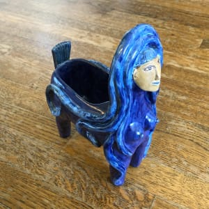 2 faced Double Goddess vessel by Nell Eakin