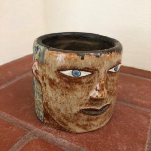 Thoughtful Gaze succulent pot