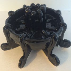 Waterfall inspired spiral candle holder #1  by Nell Eakin