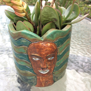 Aloha  succulent pot by Nell Eakin