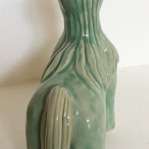 Blue unicorn woman by Nell Eakin