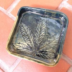 Square single leaf impression OG by Nell Eakin