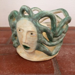 Sea Goddess candle holder by Nell Eakin