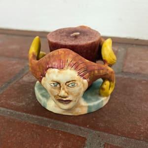 Fire Women candle holder by Nell Eakin