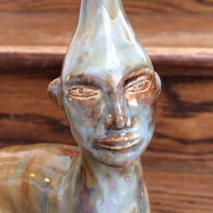 Gray Blue Dreamer Twisticorn by Nell Eakin