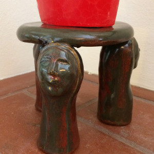 Hand Maids Tale candle platform by Nell Eakin