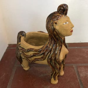 Beatrice, an incense burning lady vessel by Nell Eakin