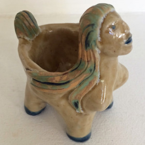 Rainbow lady bowl by Nell Eakin