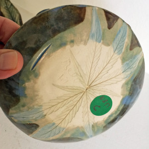 Small light blue single leaf by Nell Eakin