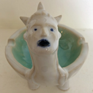Blue pool lady dish by Nell Eakin