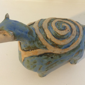 Leo, a spiral backed turtle  by Nell Eakin