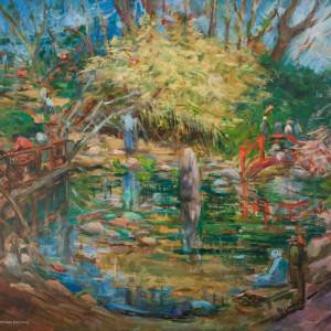 Bridges at the Birmingham Botanical Gardens by Miriam McClung