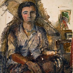 Artist Self Portrait by Miriam McClung