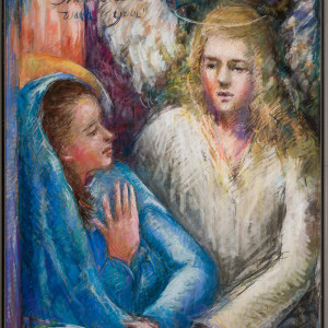 The Annunciation or Hail Oh Favored One by Miriam McClung