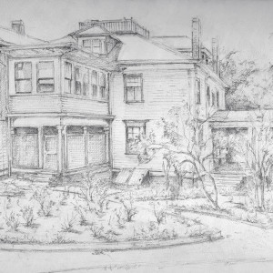 Back view of F.M. Jackson House on Clairmont Ave. by Miriam McClung