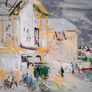 Buildings at Rosemary Beach by Miriam McClung