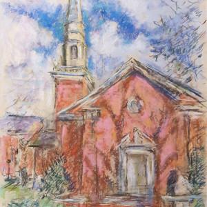 Canterbury United Methodist Church by Miriam McClung