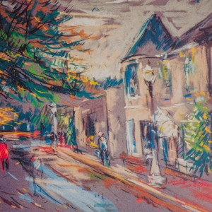 Early Morning in Moutain Brook Village by Miriam McClung