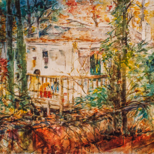 Back Porch by Miriam McClung
