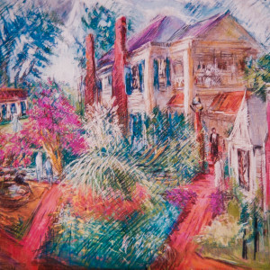 Back View of Arlington Antebellum Home by Miriam McClung