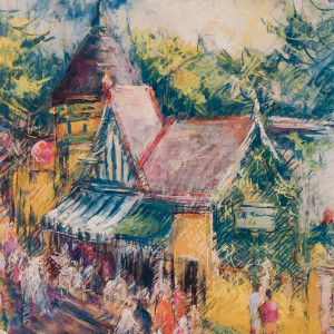 English Village by Miriam McClung