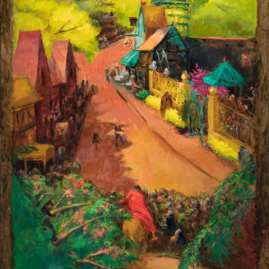 """""""Christ Enters English Village"""" or """"Christ Enters Jerusalem"""" by Miriam McClung"""