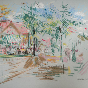 Study of Five Points South by Miriam McClung