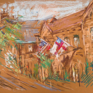 Flags at St. Mary's by Miriam McClung