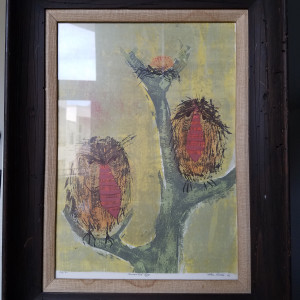 Unwanted Egg - signed etching 26/30 by Alton Raible