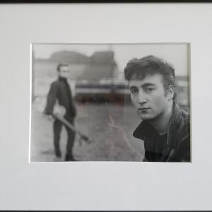 Hamburg Photo - Astrid Kirchherr print signed/numbered by John Lennon