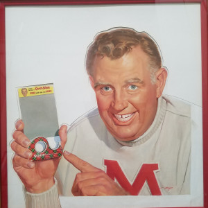 Andy Devine Scotch Tape ad - original painting by Mayo Olmstead
