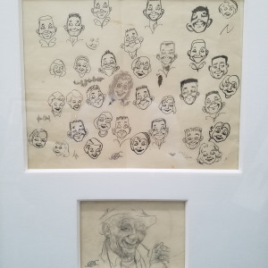 Face sketches by Kelly Freas