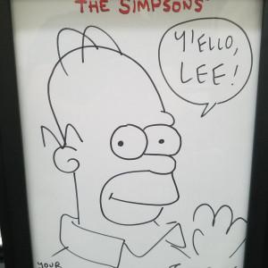 Homer Simpson sketch (2006) by Matt Groening