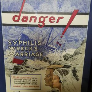 Vintage Syphillis poster