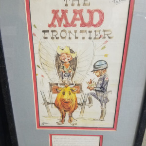 The Mad Frontier - prelim cover artwork by Kelly Freas