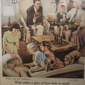 'Beer Belongs' s&n print by Will Elder