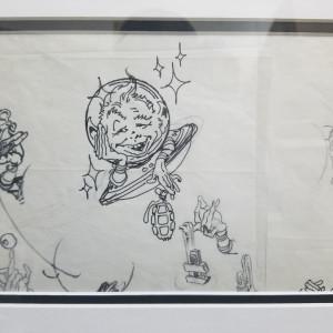 UFO sketch by Kelly Freas